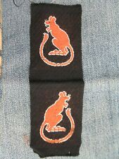 More details for 100% original ww2 british army formation patches 7th armoured div 'desert rats'
