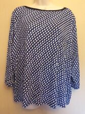 Marks & Spencer Collection UK24 EU52 US20 new black/blue/white stretch top