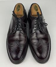Vintage Executive Imperials By Mason Shell Cordovan Oxford Burgundy Men Size 6.5