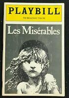 BROADWAY PLAYBILL  Apr 1987  LES MISERABLES - Original Cast - Terrance Mann  b1