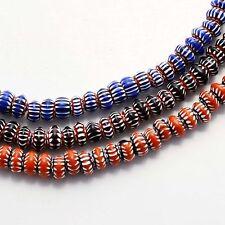 WS326 Nepalese Tibetan Artisan Chevron Glass Beads 3 Necklace Wholesale lot