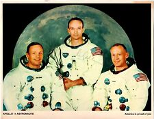 "8""X10"" NASA Color Litho of Apollo 11 crew - The item is Hand Signed by Collins"