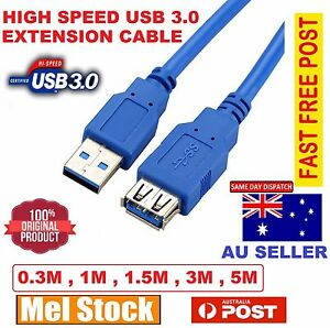 USB 3.0 SuperSpeed Extension Cable Type A Male to Female Extention Cord Lead