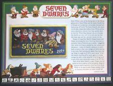 Willabee & Ward DISNEY Collector Card/Patch SEVEN DWARFS 1937 Snow White