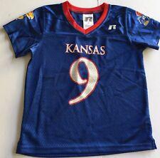 University of Kansas Jayhawks Toddler 4T  Football Jersey #9 Rare KU Blue Shirt