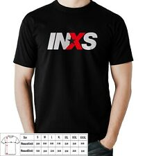 Inxs rock pop band T-shirt Black and White Usa Size
