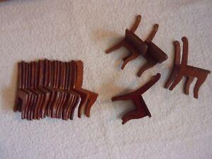 LOT  Antique--Vintage  DOLLHOUSE  MINIATURE  CHAIR  Pieces--Parts, Lg. Scale