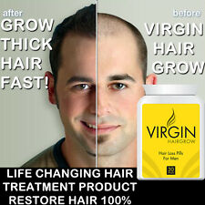 VIRGIN HAIR GROWTH PILLS TABLETS LONG THICK GLOSSY HAIR FAST STOPS SPLIT ENDS