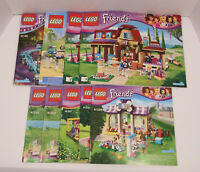 Lot of 9 LEGO Friends Instruction Manuals Books Only 41130 41347 41126 41059 VGC