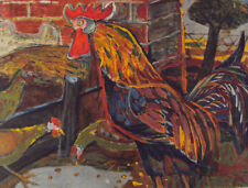 OTTO DIX  - Motiv. Hahn und Hühner  NEU hochwertiger Lichtdruck - Rarität