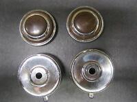 1964-65 Pontiac Chrome Radio /& Dash Knob With D Hole  2 Piece Set