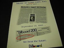 Alanis Morissette Music To Your Ears. 1995 Promo Display Ad mint condition
