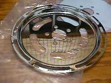 """NEW!! CHROME SLOTTED 61 TOOTH HARLEY DAVIDSON PULLEY COVER  1 1/2"""" BELT"""