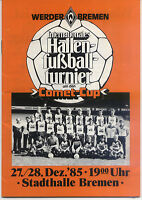 27./28.12.1985 HT Bremen mit Borussia Mönchengladbach, Borussia Dortmund, ...