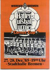 27./28.12.1985 HT Brema con Borussia Mönchengladbach, Borussia Dortmund,...