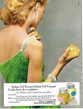 PUBLICITE ADVERTISING  1973   JEAN D'ALBRET   parfum GEL  ECUSSON & CASAQUE