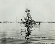 Photo of the Battleship Maine, sunk off Cuba, 1898