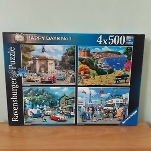 Ravensburger 4 X 500 Piece Jigsaw Puzzle Happy Days No1 Look North (Unchecked)