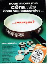 Publicité Advertising  088  1975   casseroles  poeles Céramic  Sitram -Inox