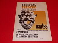 [Collection J. LE BOURHIS / AFFICHES] FESTIVAL THEATRE ANTIQUE NANTES 1967 Rare!