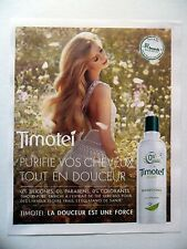 PUBLICITE-ADVERTISING :  TIMOTEI Pure  2016 Cosmétique Shampoing