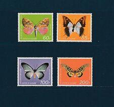 Cote d' Ivoire  faune insectes  papillons  de 1978  num: 469/72  **