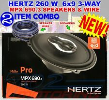 """HERTZ MPX690.3 MILLE PRO """"PAIR"""" 6""""X9"""" 3WAY COAXIAL SPEAKERS 260W MAX WITH GRILLS"""