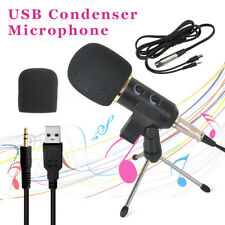 PC USB Podcast Studio Condenser Recording Microphone Vocal Singing Mic Stand a