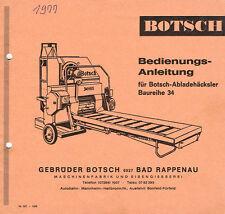 Botsch Abladehäcksler Baureihe 34, orig. BA ca. 1977