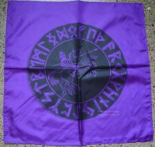 ODIN IN THE RUNE CIRCLE PURPLE ALTAR CLOTH 60x60 cm Wicca Pagan Witch Goth Norse