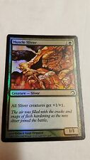 1x FOIL MUSCLE SLIVER - Rare - PREMIUM DECK - MTG - NM - Magic the Gathering