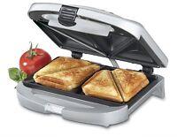 Cuisinart Electric Nonstick Dual Sandwich Maker Grill Toaster