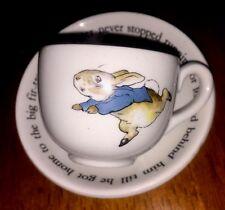 WEDGWOOD PETER RABBIT CHILD'S CUP & SAUCER BARLASTON FREDERICK WERNE