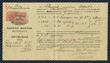 CONNAISSEMENT MARITIME - Transport entre BORDEAUX & St-PIERRE-et-MIQUELON - 1911