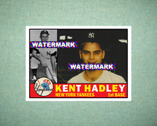 Kent Hadley New York Yankees 1960 Style Custom Art Card