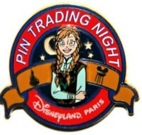 Disney Pin 106318 DLP PTN Trading Night Anna FROZEN Princess Paris LE 400