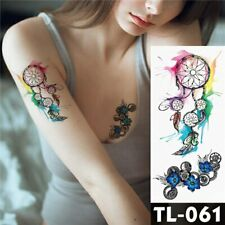 High Quality 19cm x 9cm Temporary Fake Tattoo Colourful Dream Catcher /-b47-/