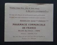 Catalogue Pharmacie commerciale de France RUe Drouot Paris