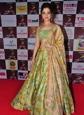 Indian Bollywood, Designer,Bridal Floral Green & Pink  Lehenga, Chanya Choli