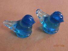 Grandma's Bluebirds Paperweight Signed Ron Ray