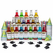 Hawaii 20 Flavor Syrup Ice Snow Cone Cups 16oz Spoon Straws Home Party Kid Candy