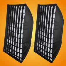 2PCS Godox 80x120cm Honeycomb Grid Softbox Bowens Mount for Strobe Flash Light
