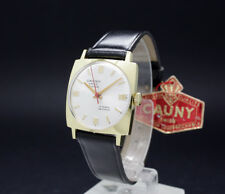 New Old Stock CAUNY MASTER goldplated mechanical vintage watch AS 1950 100% orig
