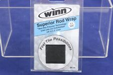 Winn 44'' Superior Rod Wrap Non-slip Polymer Fishing Rod Grip Wrap Black Sow11Bk