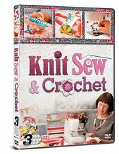 Learn to Knit (Knitting), Sew & Crochet 3 DVD Set How to Step by Step Guide