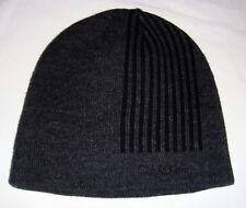 Calvin Klein Men's Reversible Beanie Hat Cap Charcoal Gray & Black One Size
