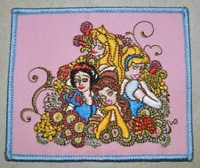 PRINCESS GROUP SQUARE BELLE SNOW IRON ON PATCH APPLIQUE HEART DISNEY EMBROIDERED