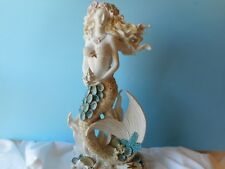 Sea Beauty Mermaid Statue With Seashells- Mermaid Decor- Artist Created