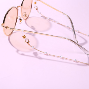 Pearl Metal Sunglasses Chain Eyewears Cord Lanyard Necklace Neck Strap Rope