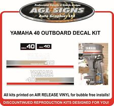 1994 - 1997  YAMAHA 40 HP OUTBOARD DECAL KIT  PRECISION BLEND reproductions
